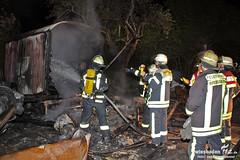 Bauwagenbrand Bierstadt 15.04.11