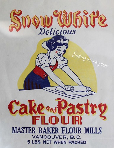 1940's snow white flour bag