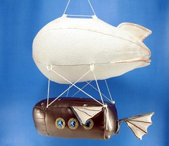 steampunk blimp (scrumptiousdelight) Tags: toy plush softie plushie copper blimp airship dirigible steampunk stuffie plushteam scrumptiousdelight