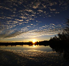 Happy Trails (Ph0tomas) Tags: trees sunset sky sun lake newmexico water clouds sunrise reflections river landscape lumix pond g wideangle g1 f4 714 vario mygearandme ph0tomas