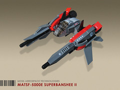 MATSF-5000E Superbanshee II (Red Spacecat) Tags: toy fighter lego space banshee scifi moc microspace starfighter foitsop microspacetopia afolcon superbanshee redspacecat
