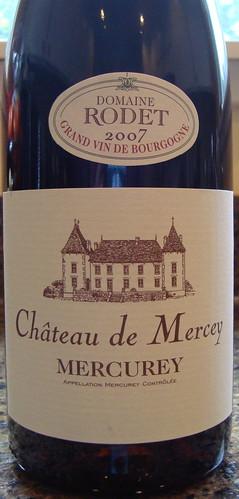 2007 Antonin Rodet Chateau de Mercey Mercurey Rouge