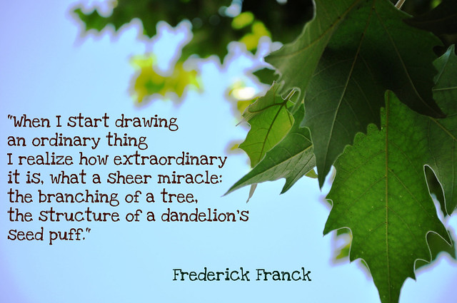 A quote from Frederick Franck