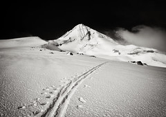 The Lone Skier (Scott Withers Photography) Tags: mthood cooperspur blackwhitephotos