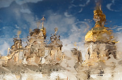 kiev / lavra (marina.shakleina) Tags: reflection church rain cathedral ukraine dome orthodox kiev lavra kievpechersklavra