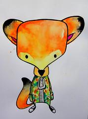 Masked Style. (Corexplosion) Tags: art illustration watercolor painting drawing fox core corexplosion