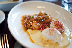 Locanda Verde - Shrimp ( and Grits) (nicknamemiket) Tags: nyc food newyork breakfast downtown foodporn brunch dining bigapple italianfood robertdeniro diningout greenwichhotel newyorkbrunch locandaverde karendemasco andrewcarmellini foodofitaly