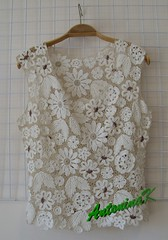 Milk (antonina.kuznetsova) Tags: flower motif beige lace top crochet ukraine clothes cotton freeform irishcrochet kherson crochetlace lacefreeform antoninakuznetsova