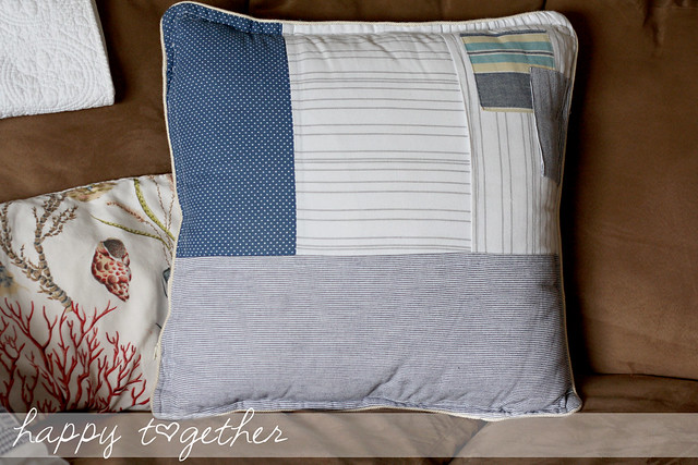Pillow Cover made from 2 Antrhopologie napkins sewn together