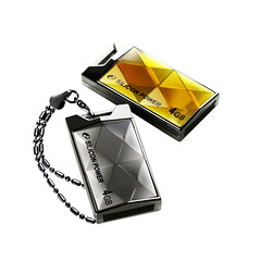 二獎:廣穎電通Silicon Power Touch 850 4GB丰采金屬碟 NT599元 (琥珀色、鈦色各1名