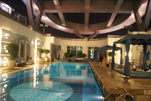 Roof top pool at Langham Place Hotel