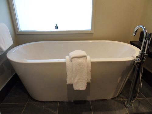 bathroom hotel bathtub