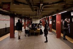 On the Platform (pamhule) Tags: nyc newyorkcity urban newyork canon subway metro manhattan streetphotography mta canon5d bigapple bryantpark iso1600 subwayplatform   llens 2470mm28 5dmarkii 5dii jensknudsen pamhule jensschott jensschottknudsen