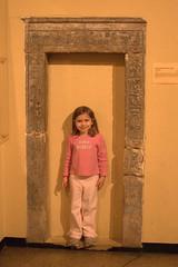 Molly posing in a doorframe