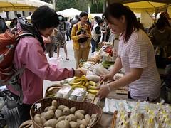 綠色市集邀請逾20家在地有機小農推廣無毒蔬果。