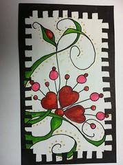 my heart belongs to you (lacey709) Tags: watercolorpencils tombowmarkers zentangle dewentwatercolorpencils zentangleimspiredart