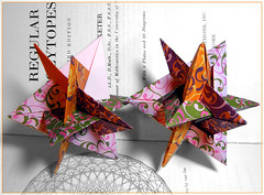 Gasherbrum and WXYZ Planar (Aneta_a) Tags: origami ow lang wireframe planar polyhedron polyhedra modularorigami robertjlang octahedralsymmetry polypolyhedra owsunit edgeunit