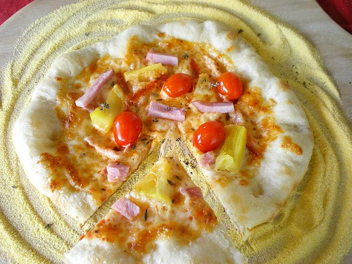 Easter Ham and Pineapple Pizza