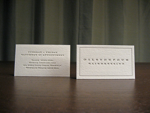 Hairdresser Letterpress Card