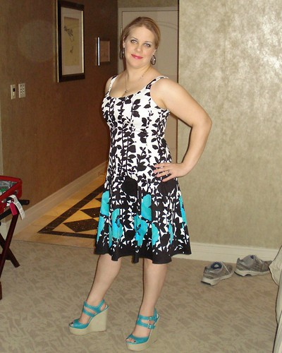 Jones New York Dress with Nine West Shoes