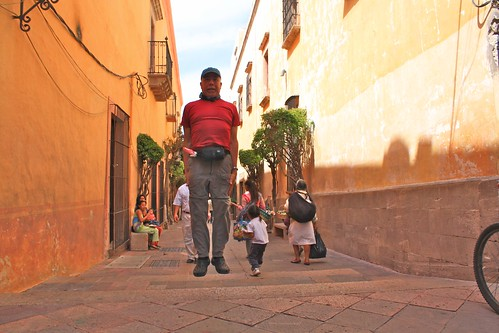 Levitation on a Queretaro street.