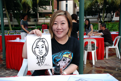 caricature live sketching for birthday party 16042011 - 6