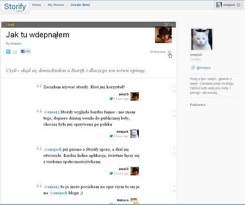 Storify 10 opcja Preview