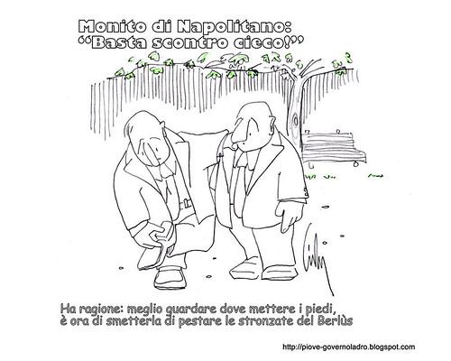 """Monito di Napolitano: """"Basta Scontro Cieco"""" by Livio Bonino"""