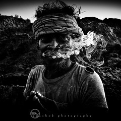 | It Kills ... (ayashok photography) Tags: morning bw man monochrome blackwhite nikon smoke madras tamilnadu cwc may31st brickfactory nikkor1855mm thirumazhisai worldnotobaccoday nikond40 ayashok chennaiweekendclickers dsc1316v2