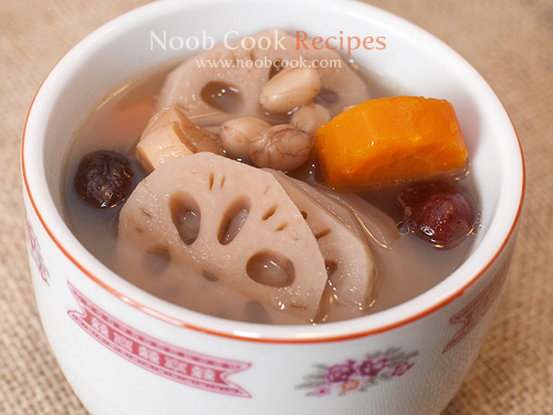 Lotus Root Soup with Pork Ribs and Peanuts 莲藕汤
