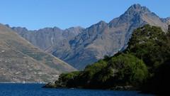 Walter Peak (Peter Sundstrom) Tags: blue autumn trees walter lake green water sunshine bay peak queenstown wakatipu