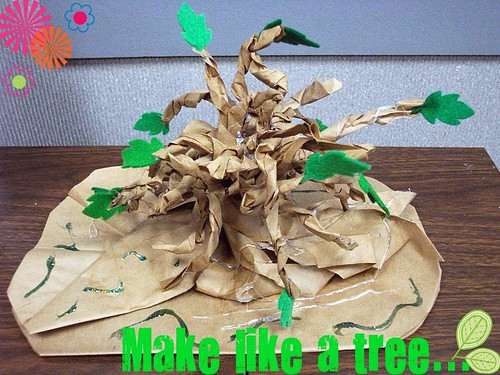 paper bag tree craft photo