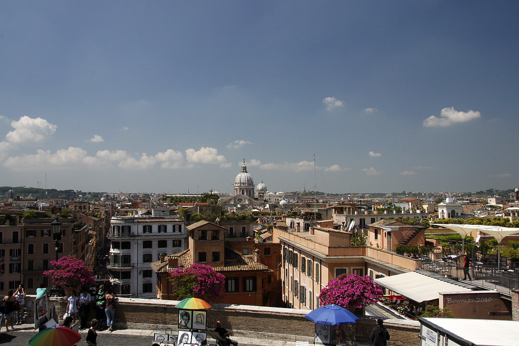 Rome - West from Spanish Steps