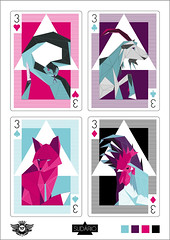 Versus - all cards (Sudrio) Tags: 3 game art lines animal triangles diamonds hearts mammal three galinha triangle cobra geometry snake contest digitalart goat cock card fox clubs bode concurso rooster rattlesnake carta copas paus playingcard spades ouro versus baralho vetor galo cockerel espadas cascavel tringulo mamfero naipe ouros vectot feralrooster feralgoatraposa