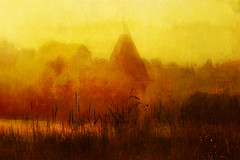 Oast house and Meadow near Sarre (clive sax) Tags: painterly kent meadow sarre oasthouse