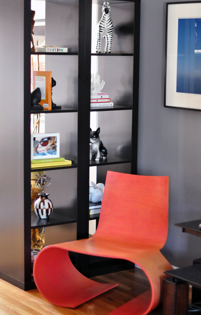 living room nook oto chair orange