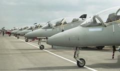 Hawk Line Up (Nigel Musgrove-2.5 million views-thank you!) Tags: hawk 1991 bae raf twu fairford iat brawdy t1s