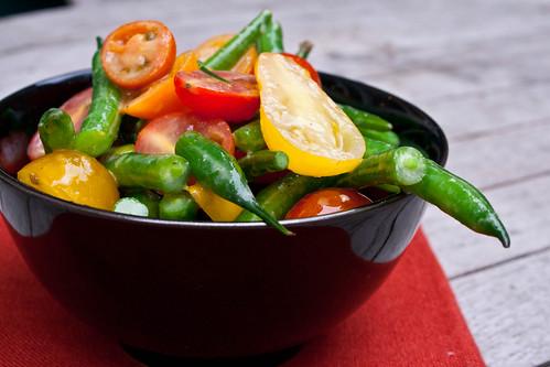 Tomato and Green Bean Salad - Delishhh