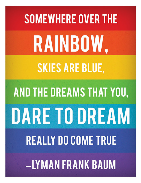 over the rainbow printable