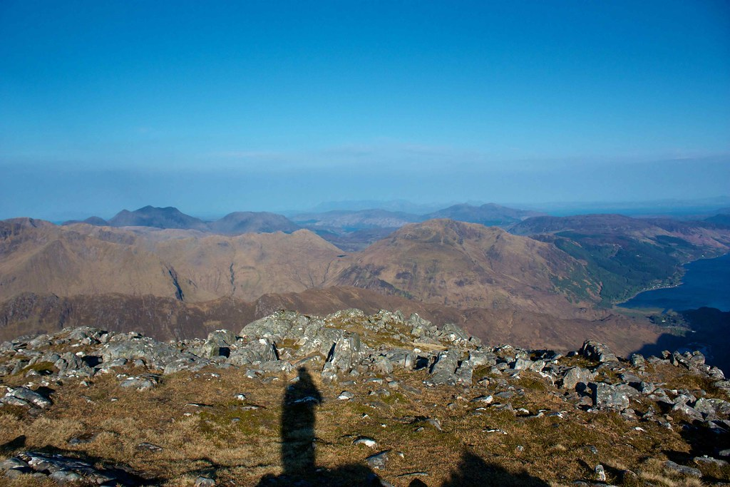 Glenelg and Skye from Sgurr na Carnach