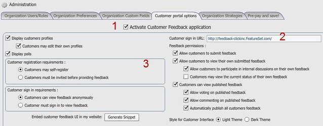insight management - activate customer portal