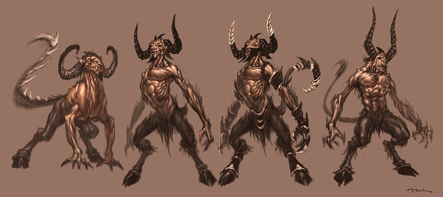 Satyr sketches by AndyPark