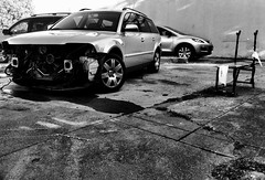 Street Scene (hyperborian) Tags: street bw crash georges redwoodcity monceaux savedbythehotboxuncensoredgroup