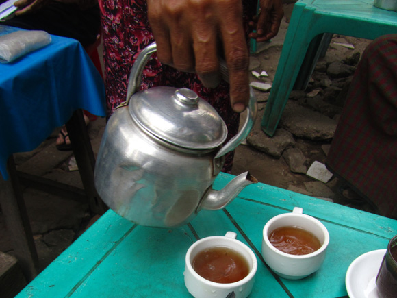 Drinking Tea in Myanmar