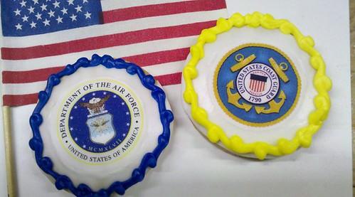 Military cookies-Coast Guard Cookies & Air Force cookies