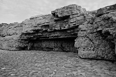 Dorset, England, 2011 (12 of 20).jpg (longboy74) Tags: blackandwhite rock dorset limestone thechannel dancingledge barerock theenglishchannel thejurassiccoast lonemanfishing