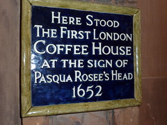 Photo of Pasqua Rosee's Head blue plaque