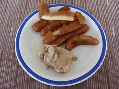 Deep fried Squid and Fish (knightbefore_99) Tags: blue food fish west mexico lunch coast deep plate mexican squid oaxaca tropical fried huatulco lasbrisas