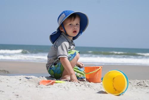 He Prefers the Sand