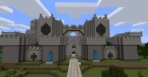Minecraft Screenshots-Huge Minecraft Castle Town